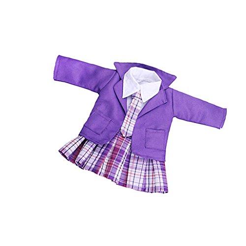Fenteer Mode Mädchen Schuluniform Kleidung für 18 Zoll Puppe Dress Up Zubehör (Schuluniform-jungen-18)
