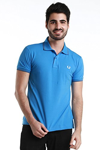 Fred Perry da uomo Slim Fit polo Blue/Dull Blue XX-Large