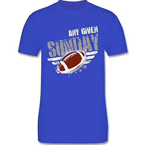 Shirtracer American Football - any Given Sunday Football - Herren T-Shirt Rundhals Royalblau
