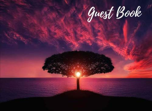 Guest Book: Sunset Tree Silhouette | Sign In Book | Party, Events, Wedding, Showers, Graduation, Birthday, Anniversary, Retirement, Vacation or Guest Home