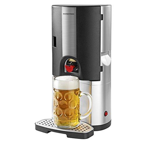GOURMETmaxx Bierkühler 65W in Silber/Schwarz - Fass-kühler