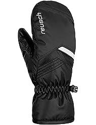 Reusch Niños Bennet R-Tex XT Junior Manoplas guantes, Otoño-invierno, infantil, color blanco/negro, tamaño 5,5