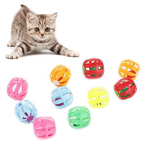 Renendi Haustier-Spielzeug für Halloween, Weihnachts-Katze, Kürbis-Hohlglocke, Jagd, Ball, Kratzspielzeug, interaktiv, 10 Stück