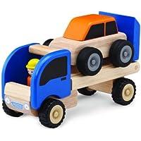 Haba Wonderworld WW-4058 Fahrzeug PKW-Anhänger 9 x 23 x 14 cm, multi