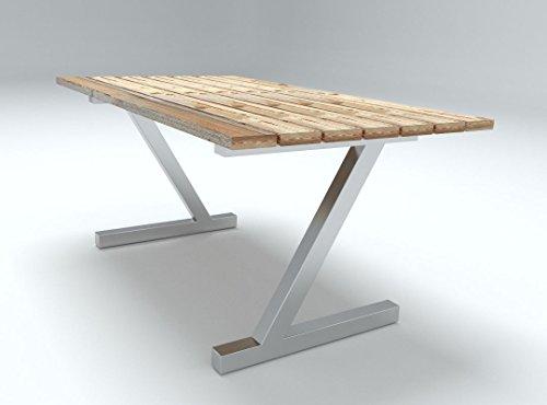 Tischgestell in Z-Form (1 Stück) Edelstahl-Design, Tischkufe, Tischbeine, Achtung! Andere Modelle bei unseren anderen Auktionen!