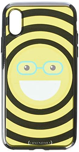 Luxendary Designer Hülle für iPhone X, Emoji mit Brille, iPhone X (5.8