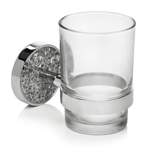 Home Treats Bathroom Silver Mosaic Wall Tumbler