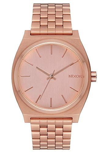 Nixon orologio unisex analogico al quarzo con cinturino in acciaio inox - a045-1957_dark copper