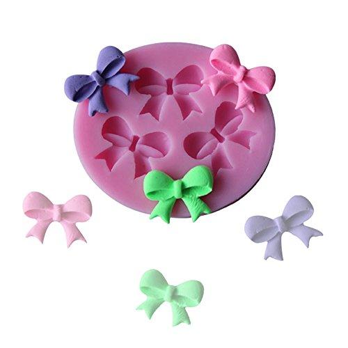 Silikon-cupcake-kuchen-form (honearn Mini Schleife Silikonform für Seife Chocolate Candy Kuchen Dekoration Formen Kuchen, Cupcake Topper Flower Zucker Paste Dekoration)