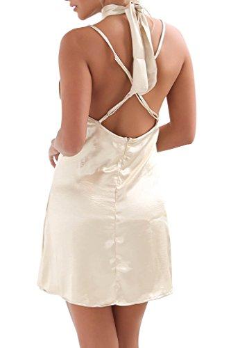 Simplee Apparel - Robe - Femme Doré