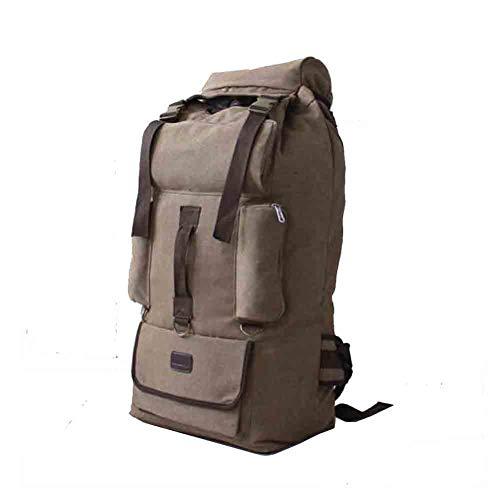 Sunny 110 L Übergroße Leinwand Schulter Große Reisetasche, Gepäck Rucksack Outdoor Klettern Fernreisen (Farbe : Kaffee - Farbe)