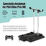 Jasnyfall Multifunktionale Ladehalterung für PS4 Pro / Slim + VR Host und Griff Kit-Farbe: schwarz