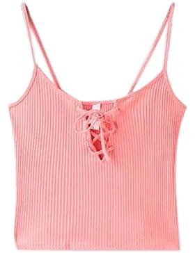 LHWY Mujeres Crop Tops Casual Algodón Blusas De Punto