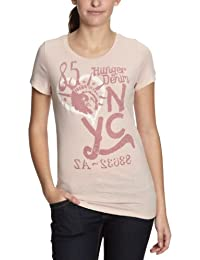 Hilfiger Denim - T-Shirt - Femme - Rouge-125-Tr-A1 - Taille fournisseur: XS (FR équivalent: 34)