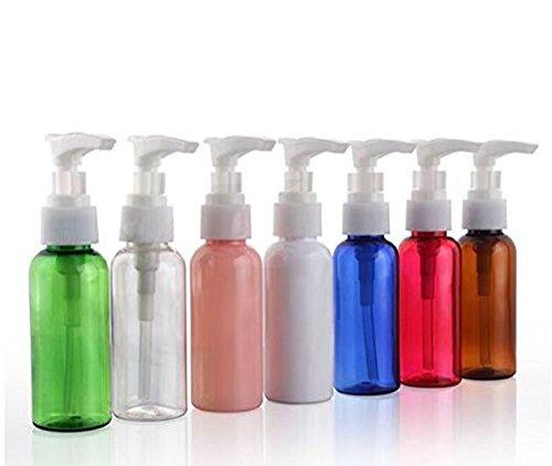 50ml (48,2gram) plastica multicolore con pompe bianco crema/bottiglia dispenser di sapone piccole bottiglie di viaggio (Dispenser Di Sapone Fine)