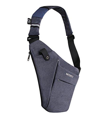 Crossbody Sling Bag, WATERFLY Leichte Casual Brusttasche Schultertasche Daypack