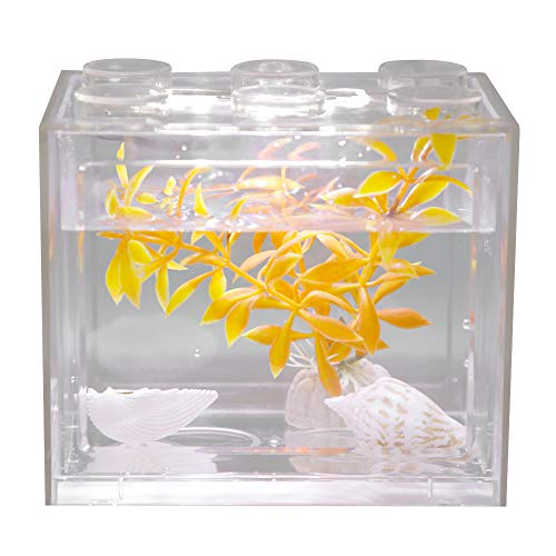 Acuario Tanque Peces Decorativo Mini Acuario USB LED