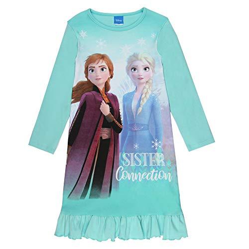 Disney Mädchen Die Eiskönigin, Frozen, Nachthemd, blau, Größe 98, 3 Jahre