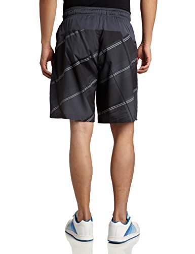 Wilson - Shorts sportivi da uomo Long Sleeve Cardiff Plaid 10 Nero - Coal/Tm