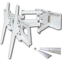 TV de montaje en pared soporte universal de inclinación del eslabón giratorio de plasma LCD Televisores LED de hasta 140 cm (55 pulgadas) con VESA 200x200 a 660x400, distancia a la pared de 12 a 47 cm, color blanco