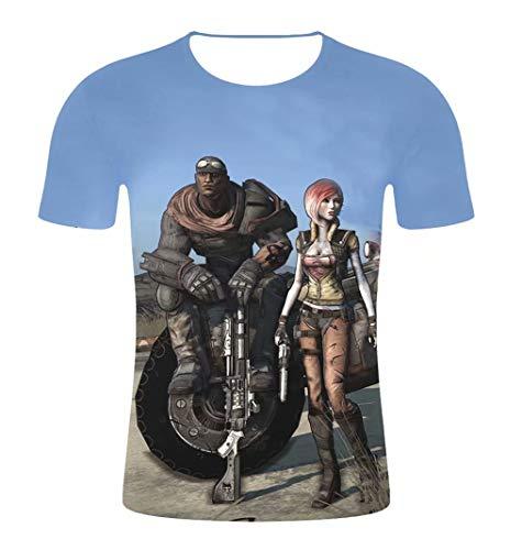 qingning Border T-shirt Spiel Cosplay 3D Drucken Shirt Geburtstag Geschenk (Halloween 3d-spiel Spielen)