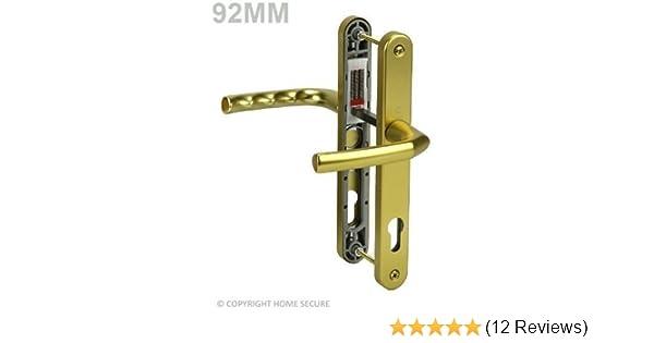 uPVC Door Handles Set Lever White 92pz 122mm Screw to High Quality Handle...