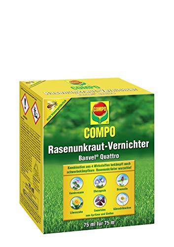 COMPO Rasenunkraut-Vernichter Banvel M, Rasenherbizid auch gegen schwer bekämpfbare Unkräuter im Rasen