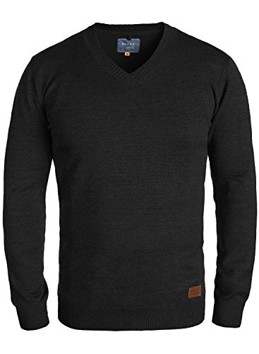 BLEND Lasse 20703348ME Strickpullover, Größe:XL;Farbe:Black (70155) (Pullover Männer)