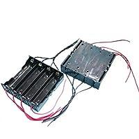Goliton 2X Parallèlel boîte étui de support batterie 4 sections 18650 Parallèle boîte de batterie avec câble