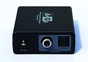 e-sds Convertisseur audio numérique vers analogique avec noise-free Conversion Audio Technologie–Convertir RCA L/R Audio Analogique à SPDIF optique/coaxial CV0052