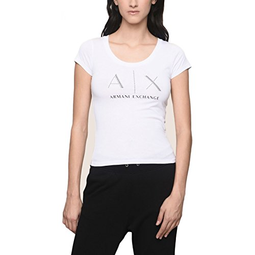 Armani Exchange Damen T-Shirt Weiß Weiß Medium