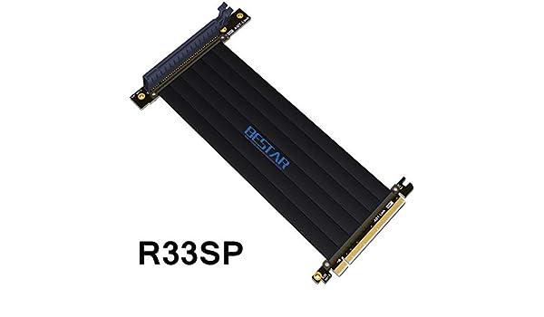 Cable Length: 10cm ShineBear Gen3.0 PCI-E 16x to 16x Riser Extender PCIe Cable for PHANTEKS ENTHOO Evolv Shift PH-ES217E//XE PK-217E//XE ITX Motherboard