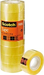 Scotch 5081933 General Purpose Office Utility Tape - Transparent - 8 Rolls - 19 mm x 33 m