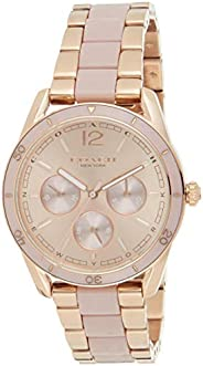 Coach Women's Rose Gold Dial Ionic Rose Gold Plated Steel & Pink Abs Watch -