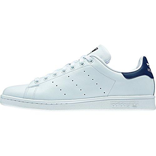 adidas Stan Smith Unisex-Erwachsene Plateau Weiß (Running White/Running White/New Navy)