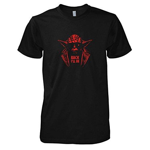 ll Be - Herren T-Shirt, Größe M, schwarz (Terminator Sarah Connor Kostüm)