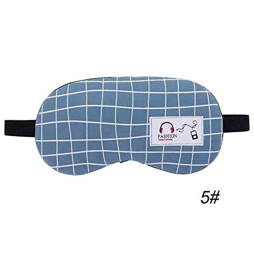 YUELANG Schlafmaske Augenklappe Weiche Augen Schlafmaske Mode Gestreifte Mond Stil Kreative Reise Entspannende Schlafhilfe Augenbinde (Color : 5 NO Ice Gel Headset) 1 Comfort Fit Headset