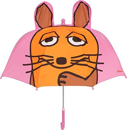 Playshoes DIE MAUS Mädchen Kinder Maus Regenschirm, Rosa (Rosa 14), One Size