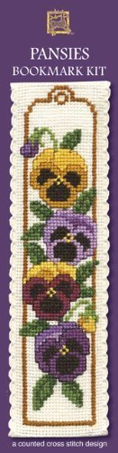 Textile Heritage Collection Lesezeichen Kreuzstich-Blumen -