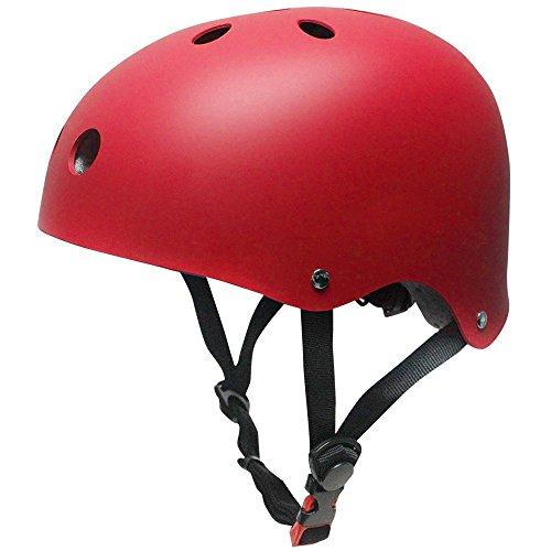 Topfire Kinder Skateboarder Helm Fahrradhelm Integralhelm Rollerhelm für Radfahrer Skateboard Scooter Bike Sicherheit Helm - Rot
