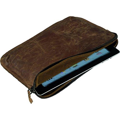 Alassio 601362 - Tabletsleeve STYLE, aus echtem Leder, ca. 30 x 23 cm, braun (Gesteppte Notebook-tragetasche)