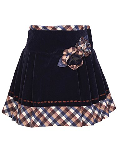 Cutecumber Girls Navy Blended Knee Length Skirt  available at amazon for Rs.540