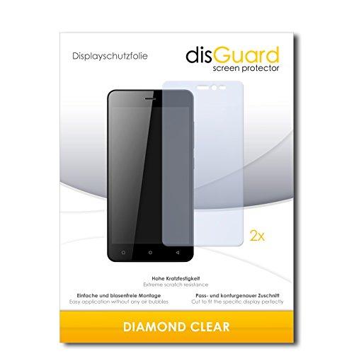 2 x disGuard® Bildschirmschutzfolie Gionee Pioneer P5W Schutzfolie Folie