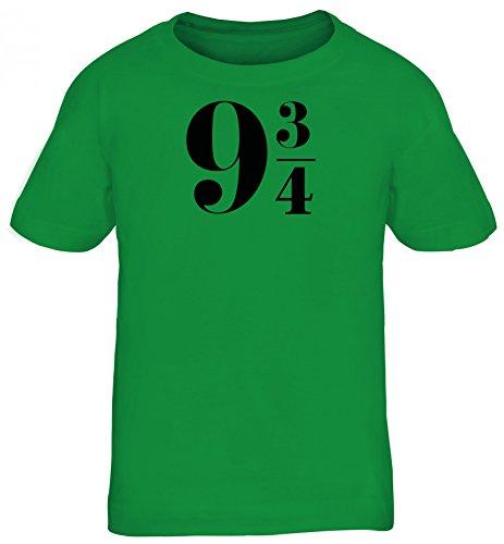Kinder T-Shirt Rundhals Mädchen Jungen Harry 9 3/4, Größe: 152/164,Kelly Green