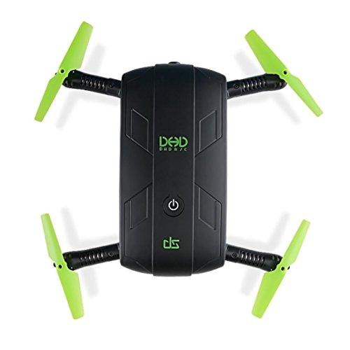 Preisvergleich Produktbild Faltbare Drone, Switchali JJRC DHD D5 3D Faltbare Drohne mit 30W WiFi FPV Kamera und 3D Rollover, Kamera, Vorwärts / Rückwärts, FPV, Gravity Sense Control, Kopfloser Modus, One Key Abheben, Seitwärtsflug, Nach links / rechts, Auf / Ab, Mit Licht (Schwarz)