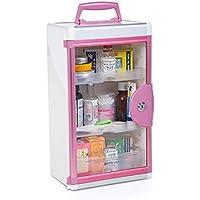 JYYX Mit Schloss Medizin Box Medical Paket Erste-Hilfe-Kit Car/Hausmedikamente-Gehäuse Medizin Container,Pink preisvergleich bei billige-tabletten.eu