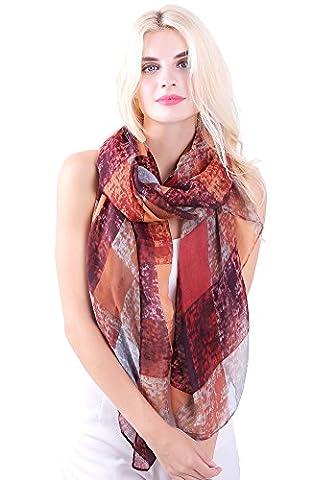 Women Ladies Colorful Painting Plaid Long Scarf Wrap Shawl Soft Scarves