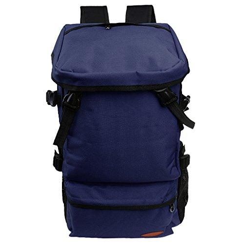 MagiDeal Unisex Zaini Sportivo da Escursionismo Campeggio Outdoor Borsa Viaggio - Blu reale Blu scuro
