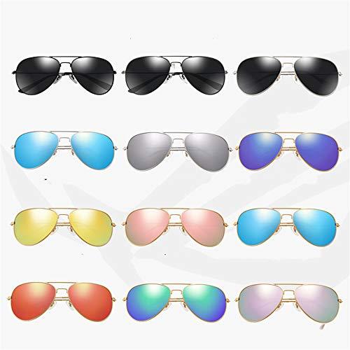 Klassische Sonnenbrille Mode Frosch Spiegel Trend Sonnenbrille Retro Sonnenbrille Silber - dunkelblau Routine