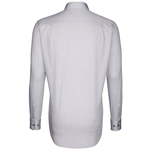 Seidensticker -  Camicia classiche  - Basic - Classico  - Uomo Grau
